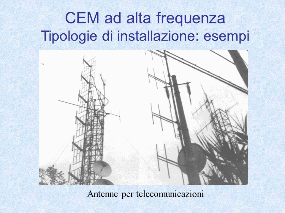 Antenne per telecomunicazioni CEM ad alta frequenza Tipologie di installazione: esempi