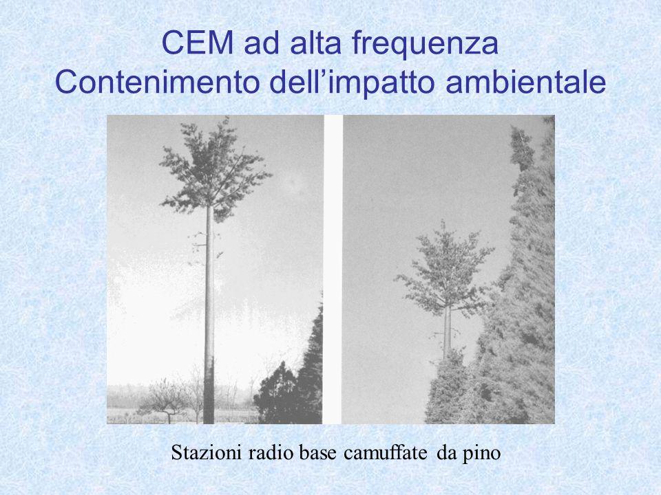 CEM ad alta frequenza Contenimento dellimpatto ambientale Stazioni radio base camuffate da pino