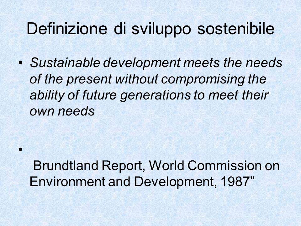 Nel corso della conferenza mondiale su Ambiente e Sviluppo UNCED, Rio de Janero 1992, sono stati sottoscritti cinque atti globali di indirizzo etico, politico e sociale per lattuazione su scala mondiale dello sviluppo sostenibile: Ognuno di questi cinque atti si basano su due principi fondamentali: 1.