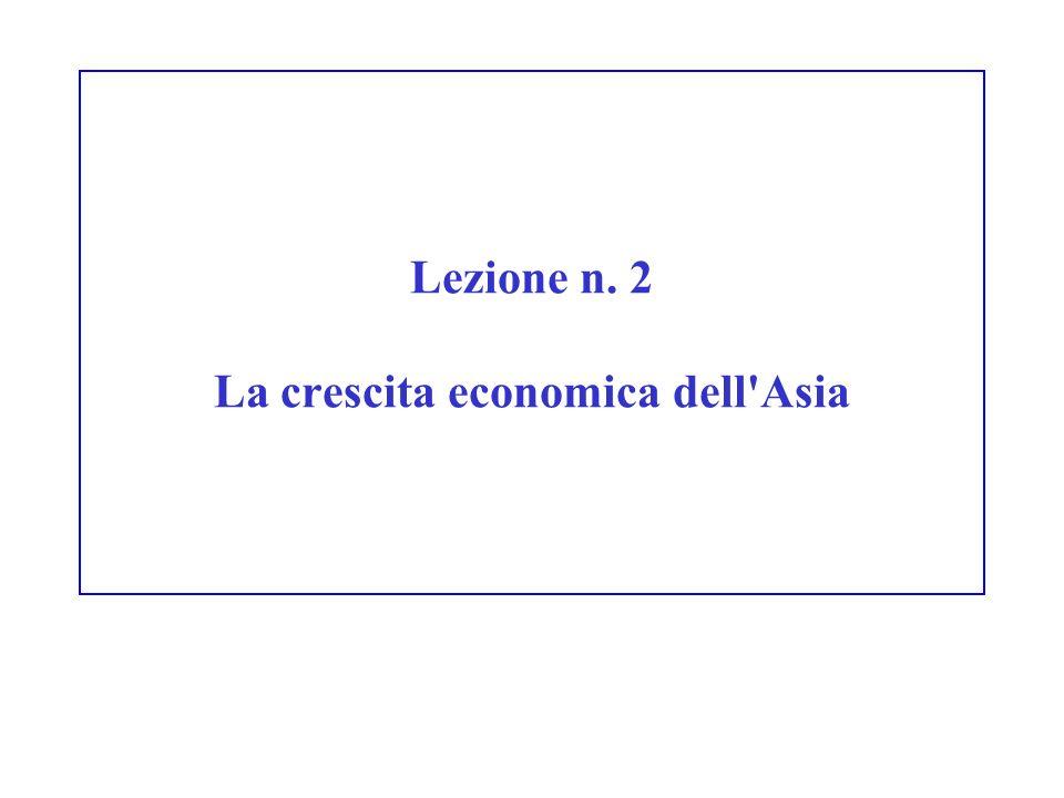 Lezione n. 2 La crescita economica dell'Asia