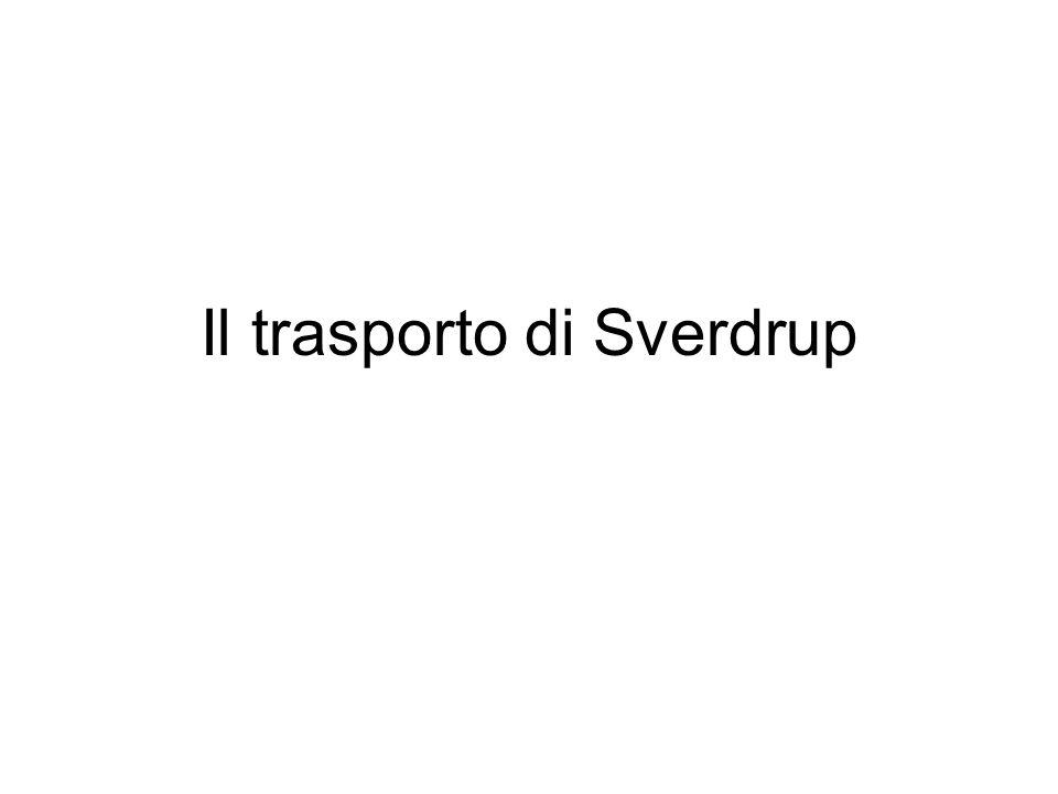 Il trasporto di Sverdrup
