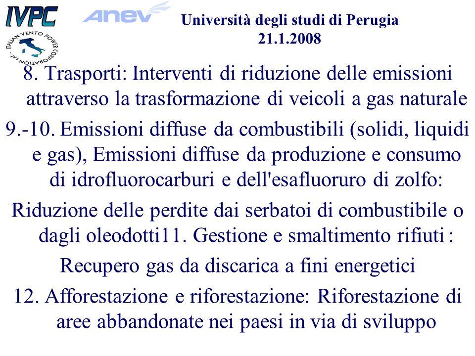 Università degli studi di Perugia 21.1.2008 8.