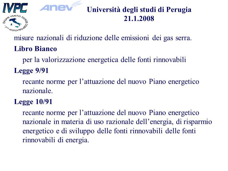 misure nazionali di riduzione delle emissioni dei gas serra.