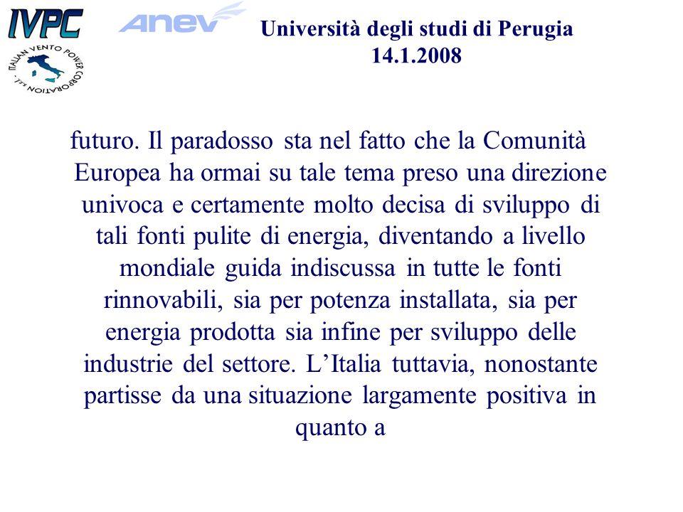 Università degli studi di Perugia 14.1.2008 futuro.