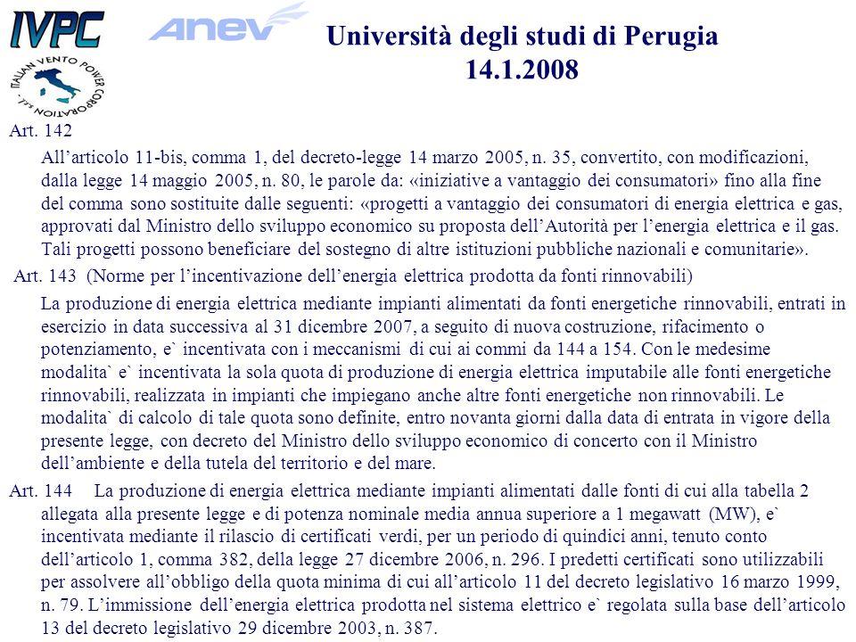 Art. 142 Allarticolo 11-bis, comma 1, del decreto-legge 14 marzo 2005, n.