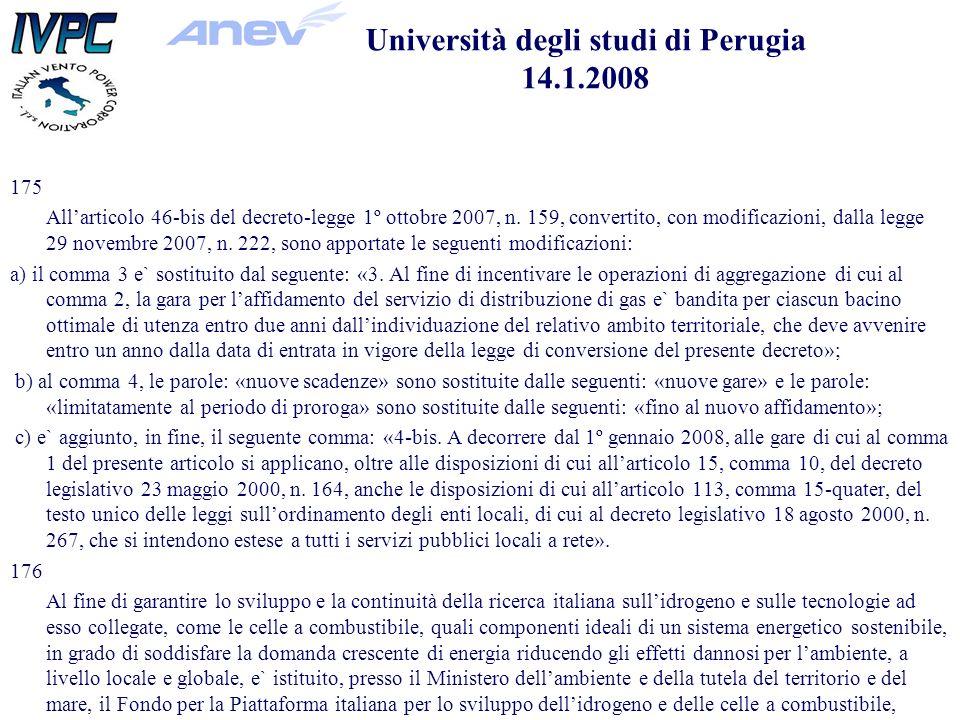 175 Allarticolo 46-bis del decreto-legge 1º ottobre 2007, n.