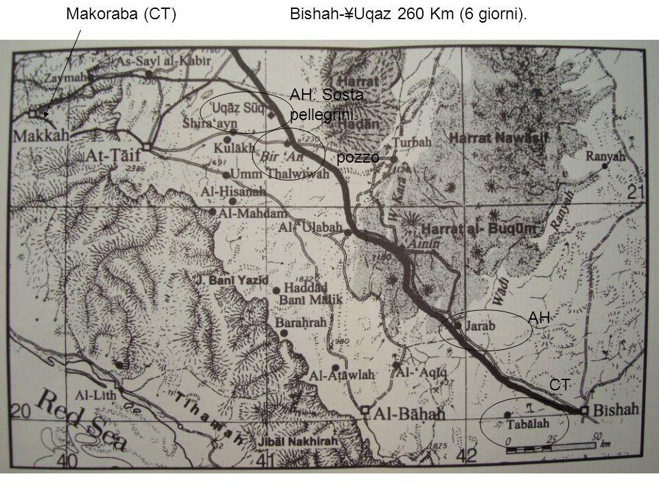 AH CT Makoraba (CT)Bishah-¥Uqaz 260 Km (6 giorni). AH. Sosta pellegrini. pozzo