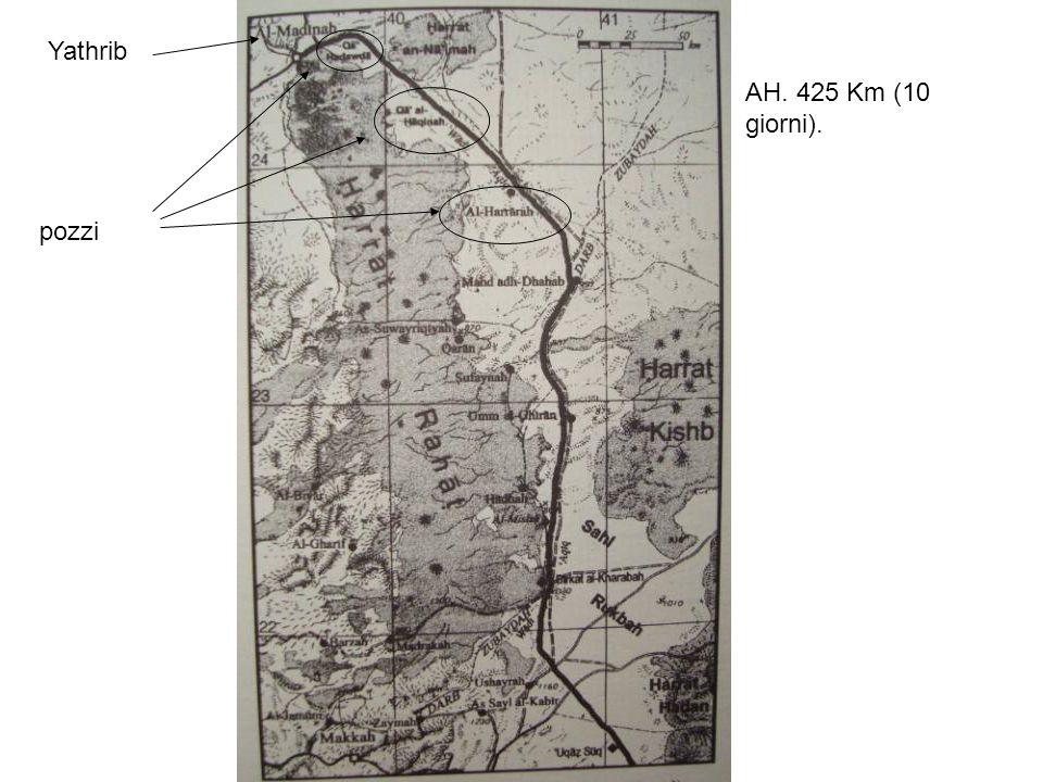Yathrib AH. 425 Km (10 giorni). pozzi