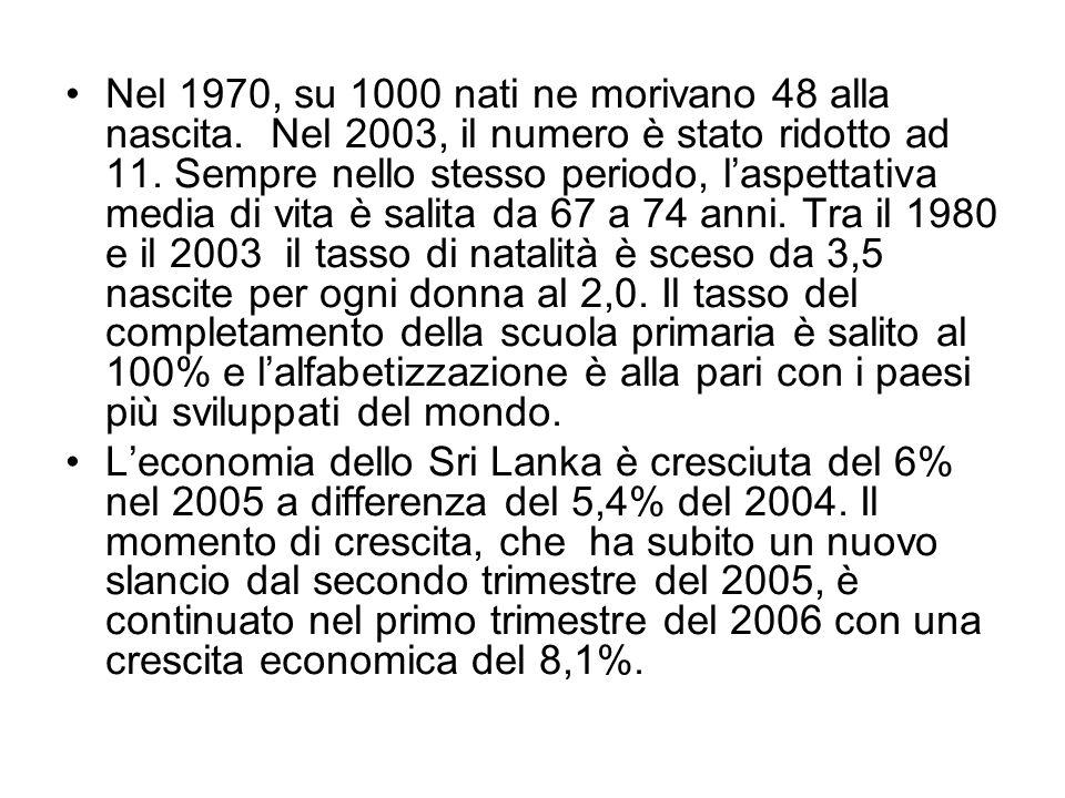 Nel 1970, su 1000 nati ne morivano 48 alla nascita.