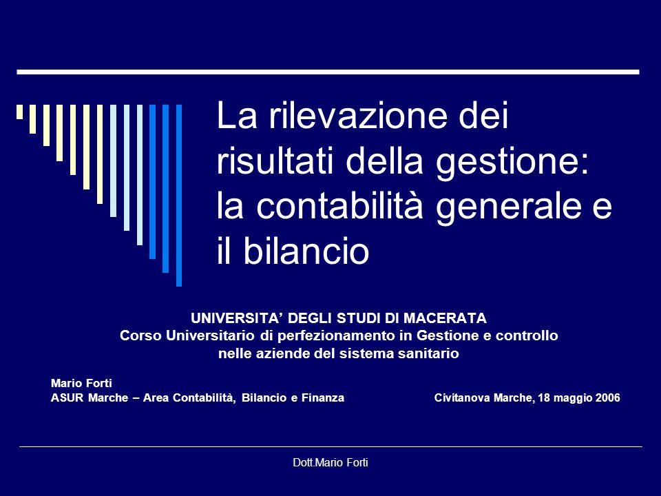 Dott.Mario Forti I principi di redazione del bilancio Principi generali (art.