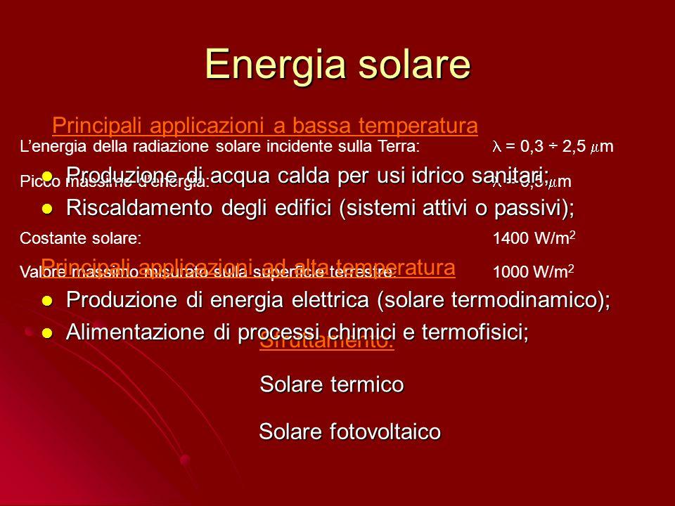 0 10000 20000 30000 40000 50000 60000 70000 80000 197719801983198619891992199519982001 2004 Andamento delle vendite dei collettori solari in Italia dal 1977 al 2001 Alzamento dei prezzi dei combustibili Shock petrolifero del 1979 Campagna dellENEL Acqua dal sole