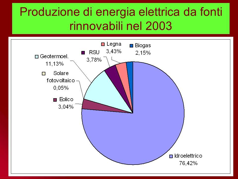 Andamento dei consumi lordi di energia primaria per fonte in Unione Europea 1995 2000 Proiezione al 2010 del Libro Bianco