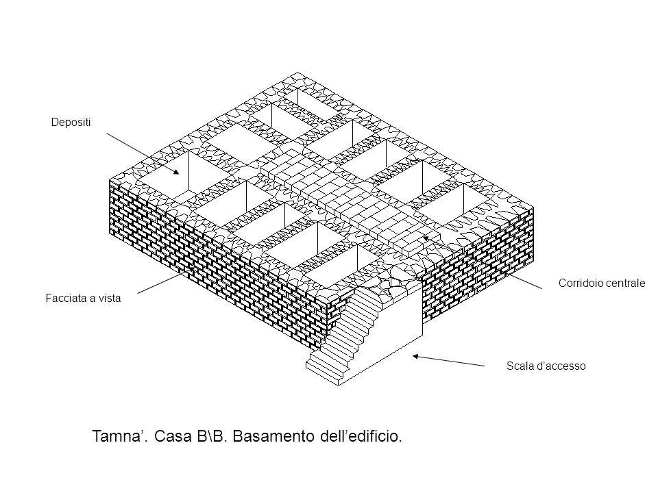 Tamna.Casa B\B. Basamento delledificio.