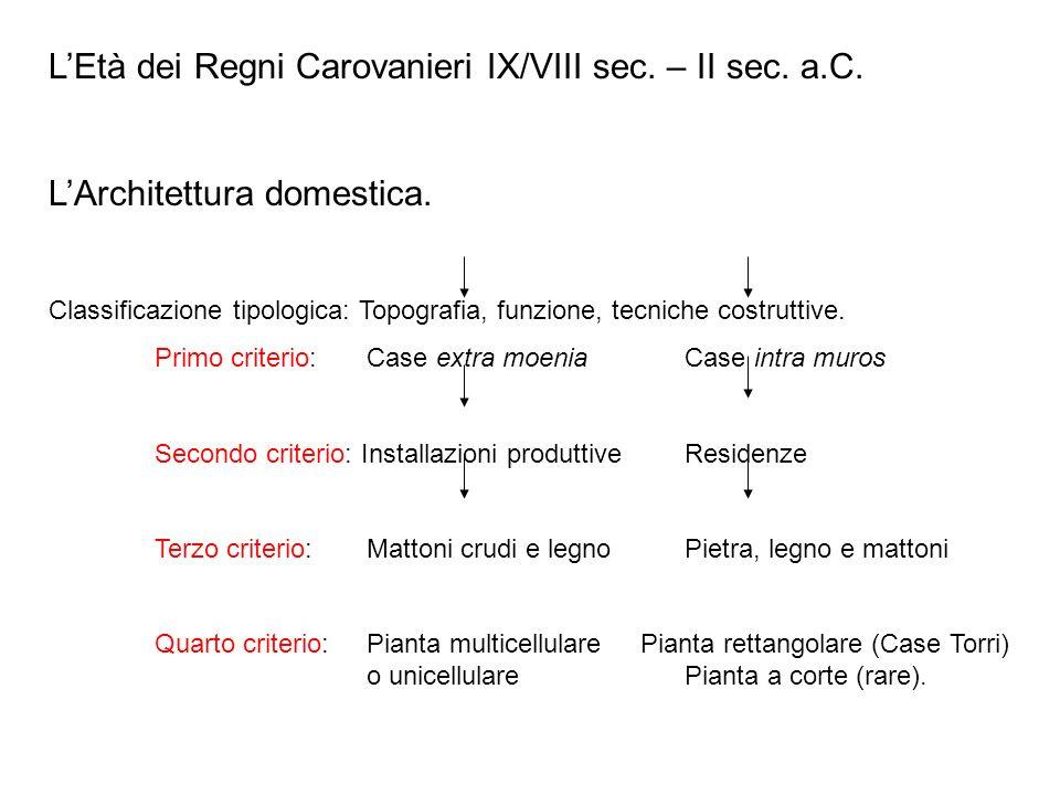 LEtà dei Regni Carovanieri IX/VIII sec.– II sec. a.C.