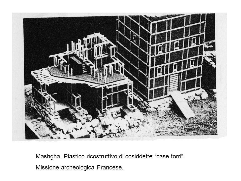 Mashgha. Plastico ricostruttivo di cosiddette case torri. Missione archeologica Francese.