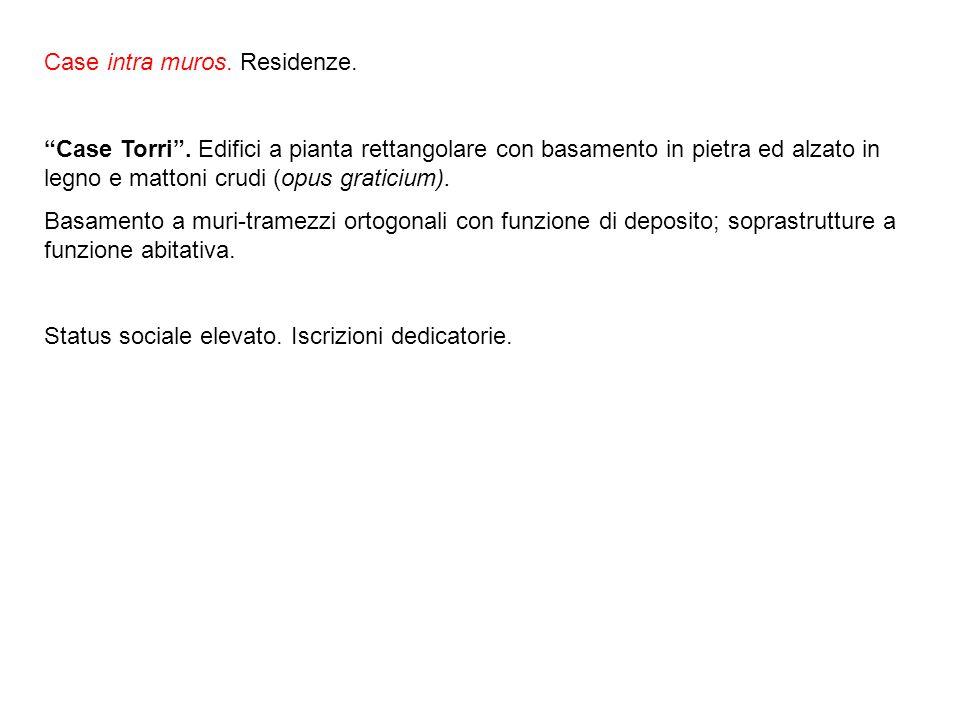Case intra muros.Residenze. Case Torri.