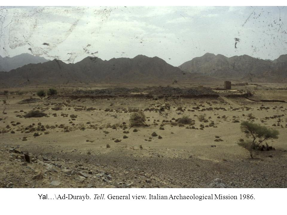 Yal…\ Ad-Durayb. Tell. General view. Italian Archaeological Mission 1986.