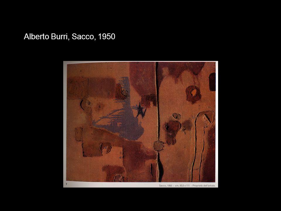 Alberto Burri, Sacco, 1950