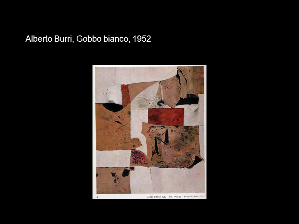 Alberto Burri, Gobbo bianco, 1952