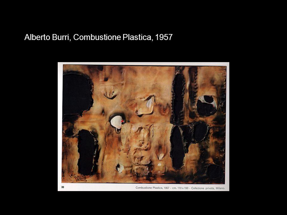 Alberto Burri, Combustione Plastica, 1957