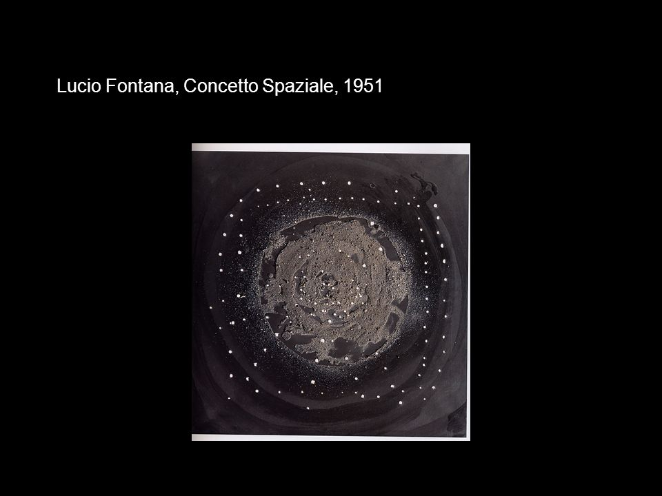 Lucio Fontana, Concetto Spaziale, 1951