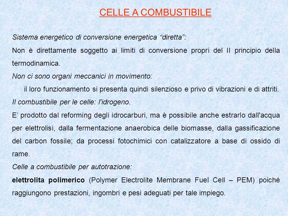 Sistema energetico di conversione energetica diretta: Non è direttamente soggetto ai limiti di conversione propri del II principio della termodinamica.