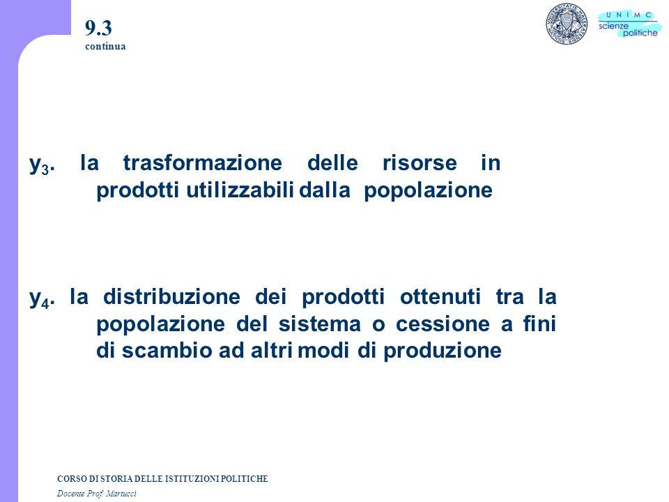 CORSO DI STORIA DELLE ISTITUZIONI POLITICHE Docente Prof. Martucci 9.3 continua y 3. la trasformazione delle risorse in prodotti utilizzabili dalla po