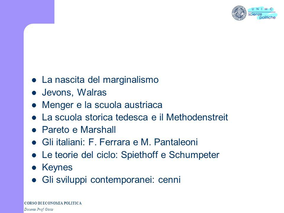 CORSO DI ECONOMIA POLITICA Docente Prof. Gioia Gli argomenti che tratteremo Il mercantilismo La fisiocrazia Leconomia politica nellilluminismo Leconom