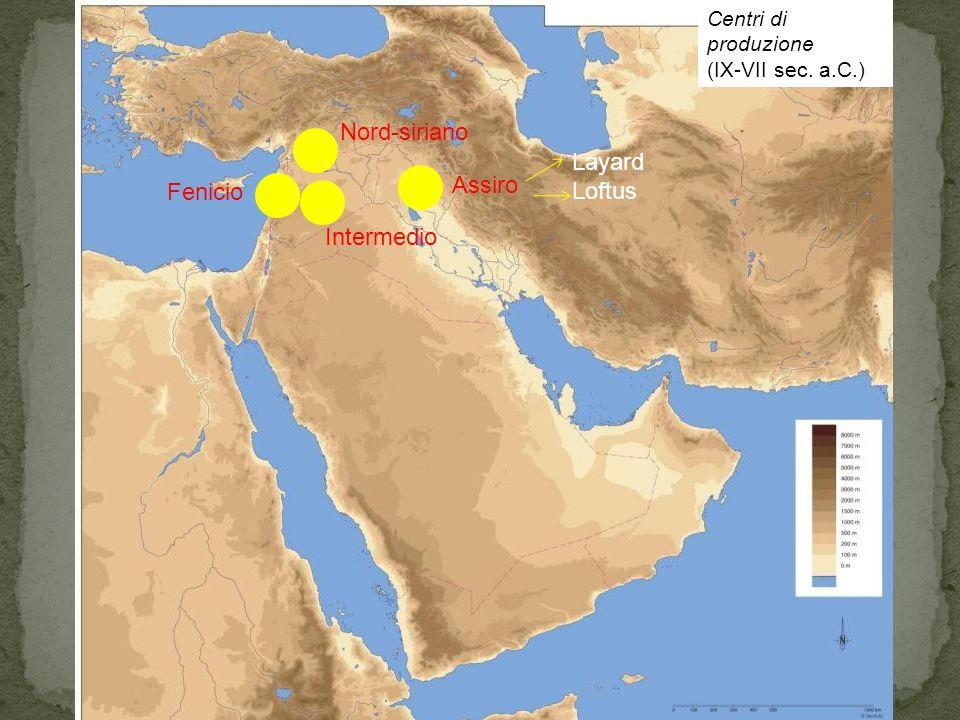 Centri di produzione (IX-VII sec. a.C.) Assiro Nord-siriano Intermedio Fenicio Layard Loftus