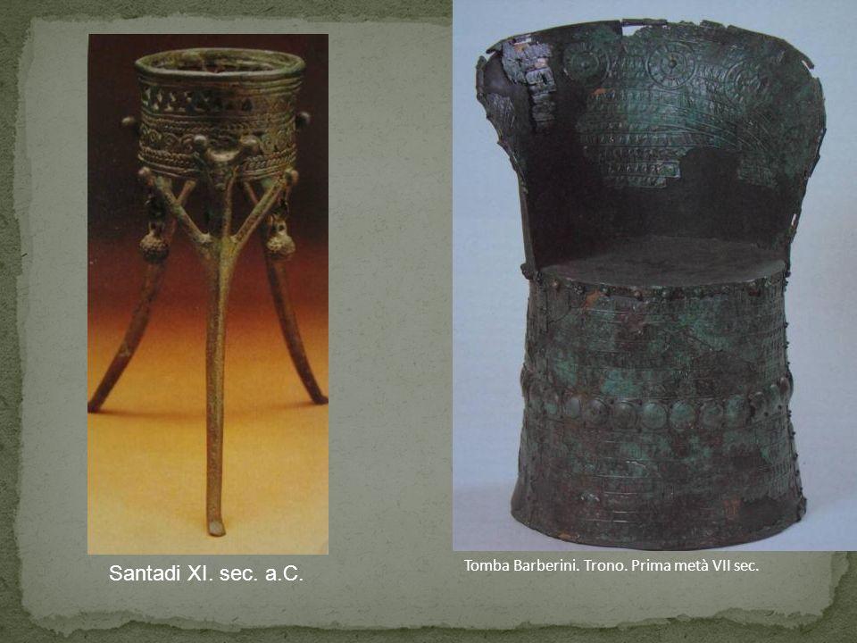 Tomba Barberini. Trono. Prima metà VII sec. Santadi XI. sec. a.C.