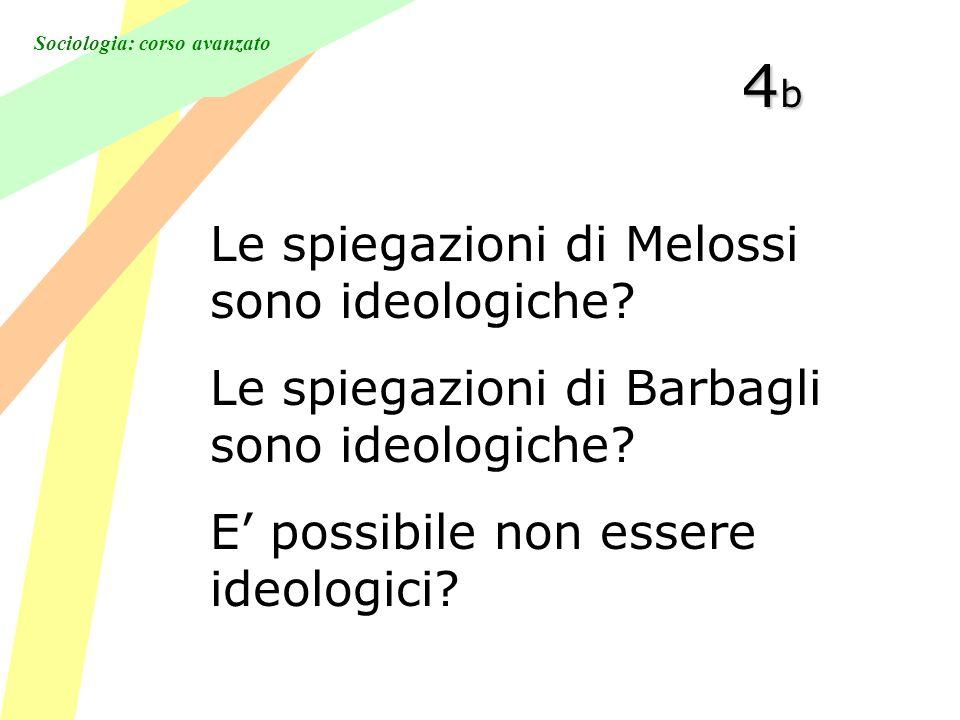 Sociologia: corso avanzato 4b4b4b4b Le spiegazioni di Melossi sono ideologiche.