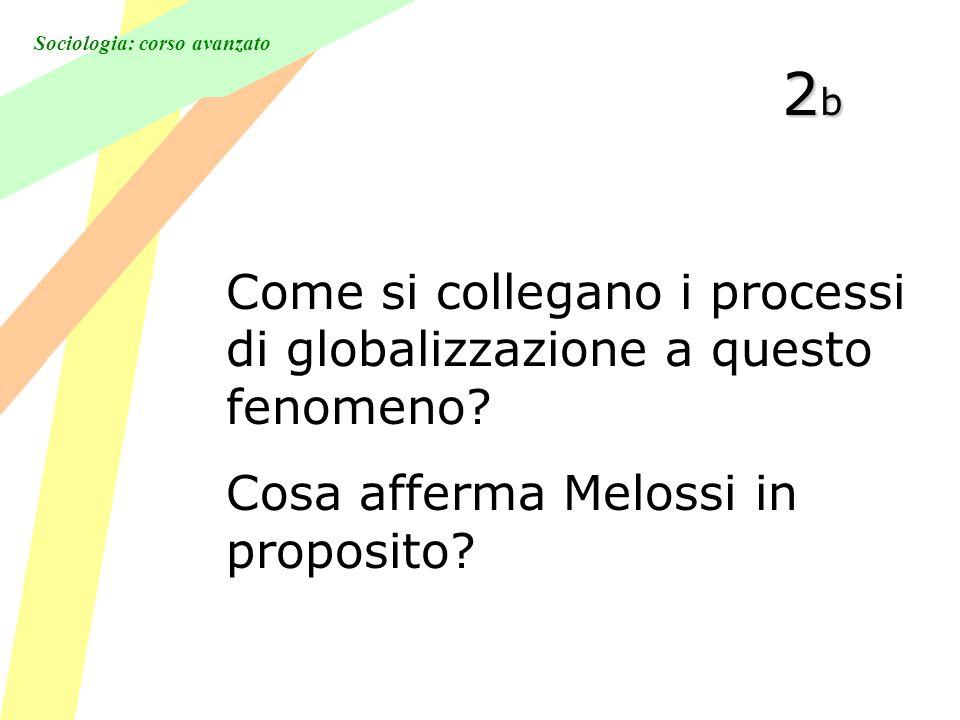 Sociologia: corso avanzato 2b2b2b2b Come si collegano i processi di globalizzazione a questo fenomeno.