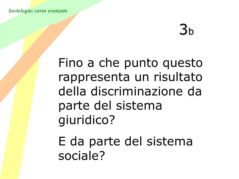 Sociologia: corso avanzato 3b3b3b3b Fino a che punto questo rappresenta un risultato della discriminazione da parte del sistema giuridico.