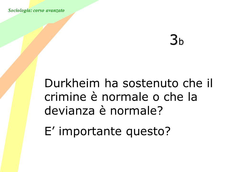 Sociologia: corso avanzato 3b3b3b3b Durkheim ha sostenuto che il crimine è normale o che la devianza è normale.