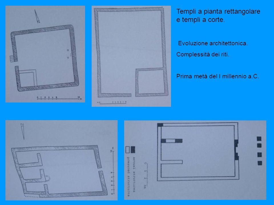 Templi a pianta rettangolare e templi a corte.Evoluzione architettonica.
