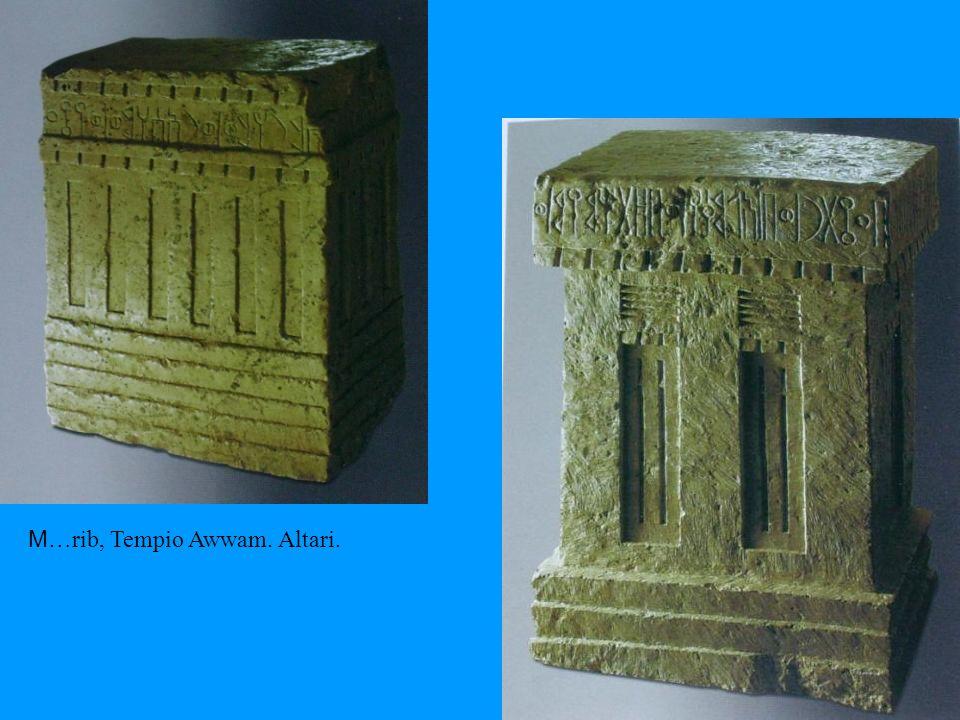 M… rib, Tempio Awwam. Altari.
