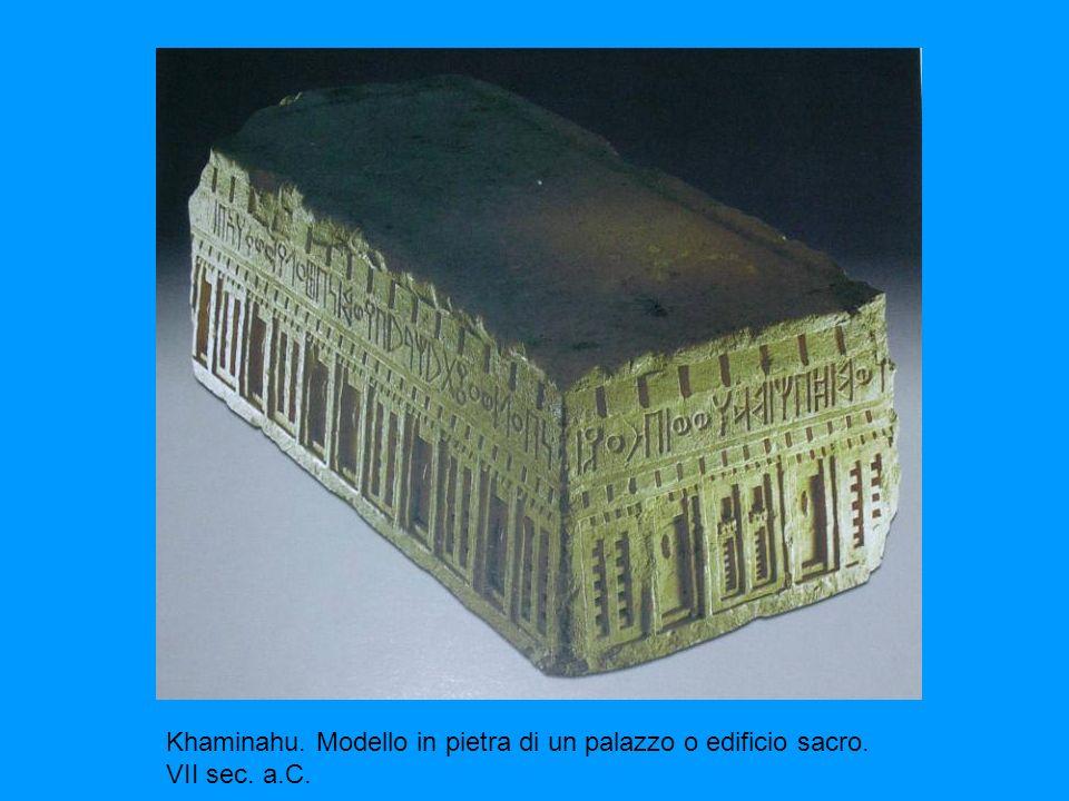 Khaminahu. Modello in pietra di un palazzo o edificio sacro. VII sec. a.C.