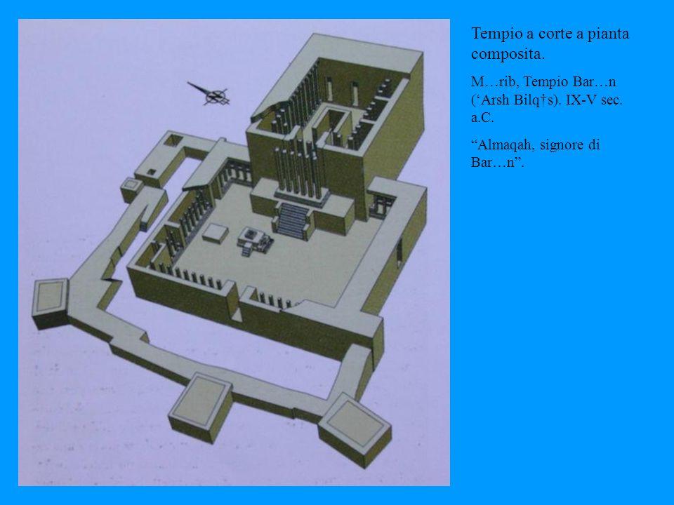 Tempio a corte a pianta composita.M … rib, Tempio Bar … n (Arsh Bilq s).