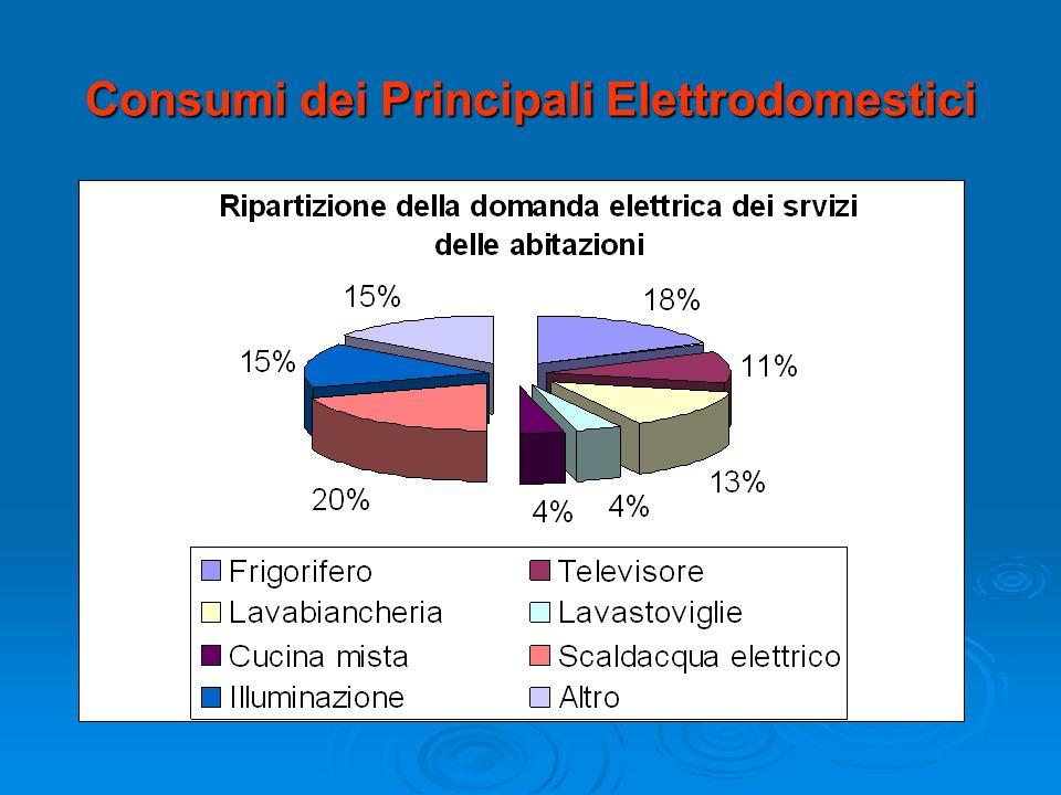 Consumi dei Principali Elettrodomestici