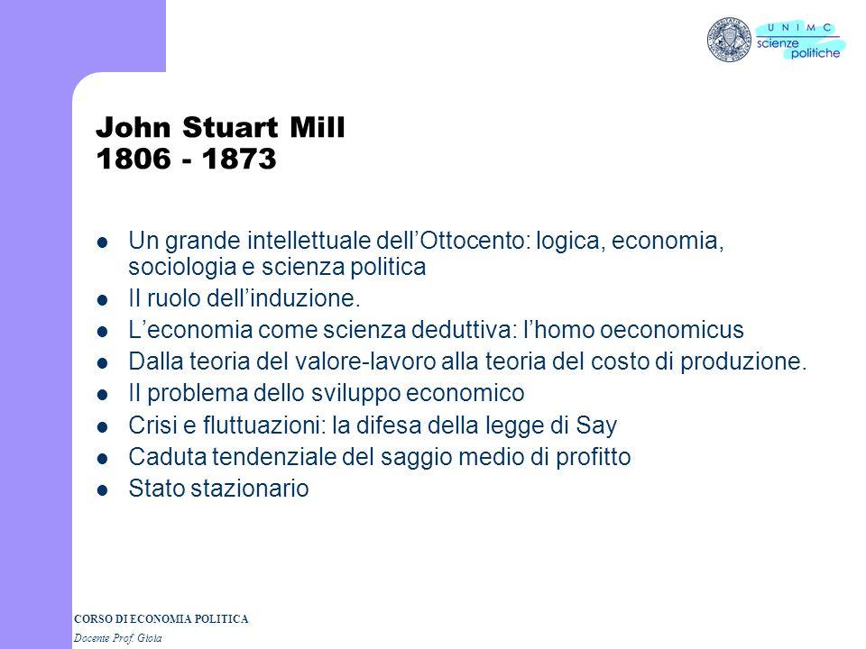CORSO DI ECONOMIA POLITICA Docente Prof. Gioia Malthus: il sottoconsumismo e le crisi Che cosa si intende per sottoconsumismo Salari e consumo Profitt