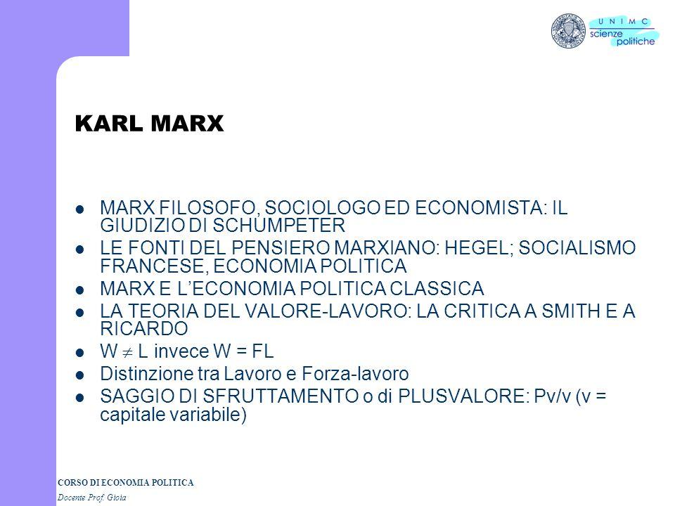 CORSO DI ECONOMIA POLITICA Docente Prof. Gioia John Stuart Mill 1806 - 1873 Un grande intellettuale dellOttocento: logica, economia, sociologia e scie