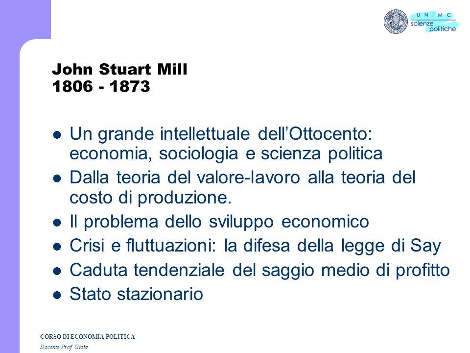 CORSO DI ECONOMIA POLITICA Docente Prof. Gioia Malthus: il sottoconsumismo Che cosa si intende per sottoconsumismo Salari e consumo Profitto = Consumo