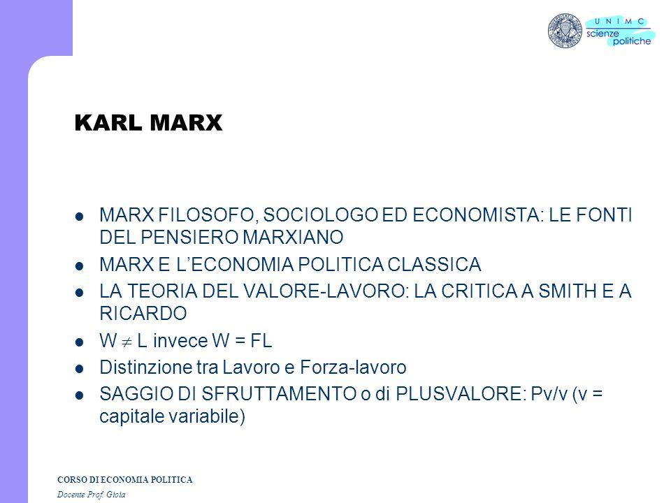 CORSO DI ECONOMIA POLITICA Docente Prof. Gioia John Stuart Mill 1806 - 1873 Un grande intellettuale dellOttocento: economia, sociologia e scienza poli