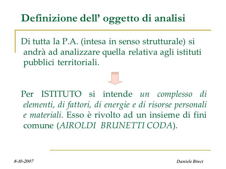 Daniele Binci 8-10-2007 Leconomia aziendale applicata alle P.A.