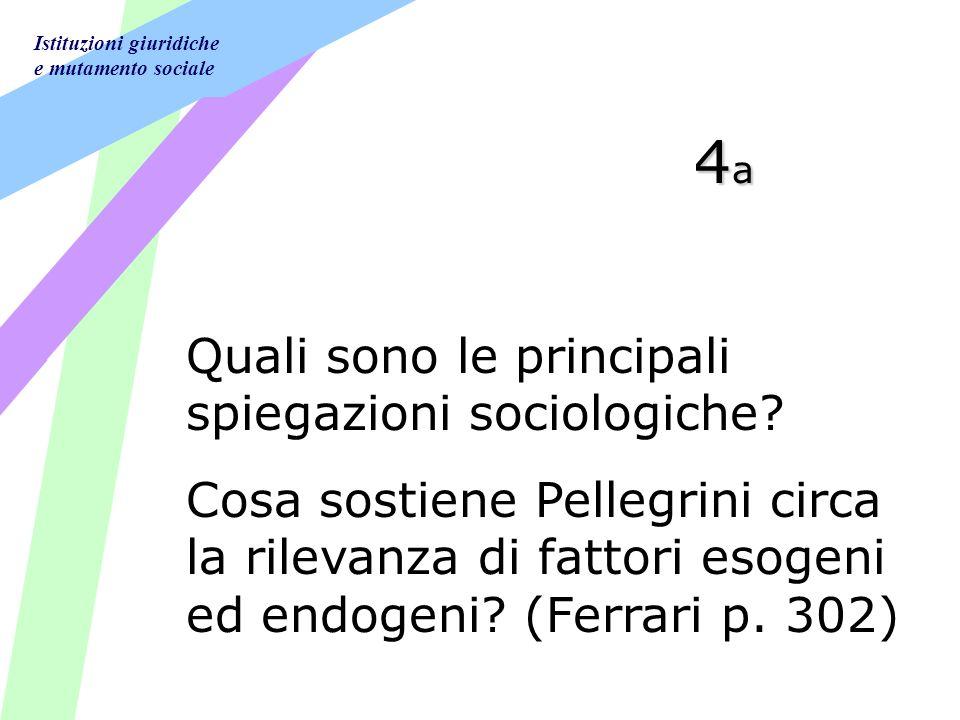 Istituzioni giuridiche e mutamento sociale 4a4a4a4a Quali sono le principali spiegazioni sociologiche.