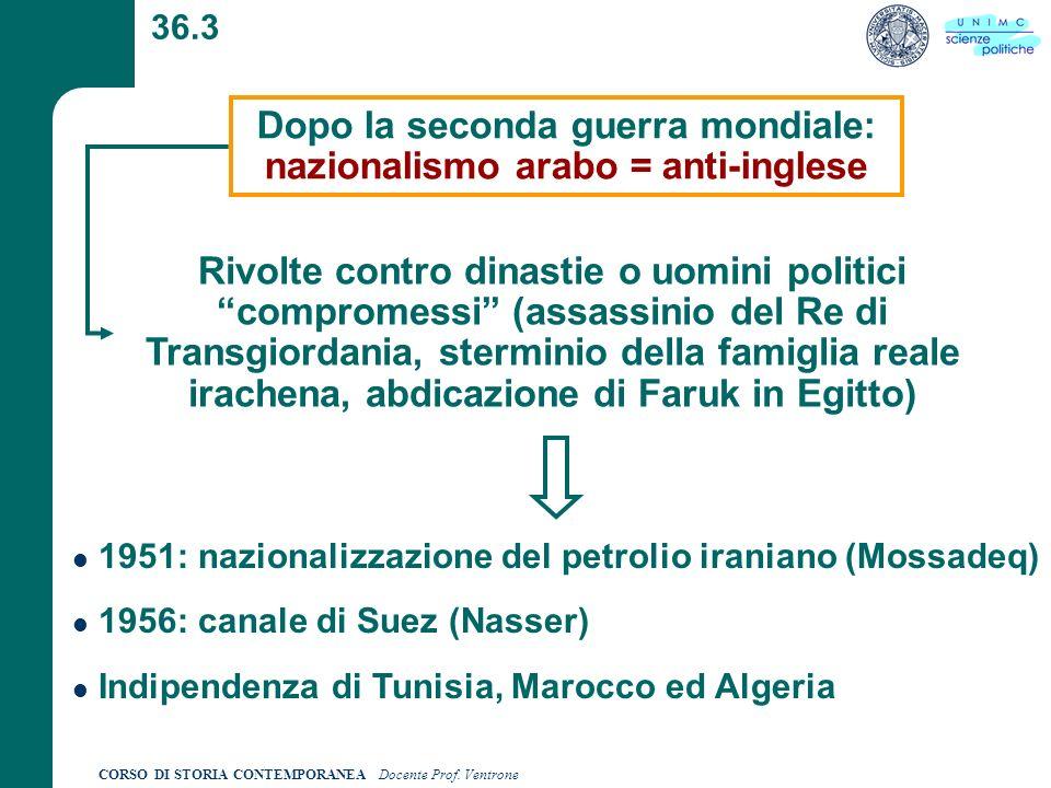 CORSO DI STORIA CONTEMPORANEA Docente Prof.Ventrone 36.4 In realtà Naz.