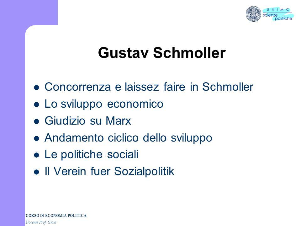 CORSO DI ECONOMIA POLITICA Docente Prof. Gioia Methodenstreit Menger:Sul metodo delle scienze sociali e sulleconomia politica in particolare (1883) Re