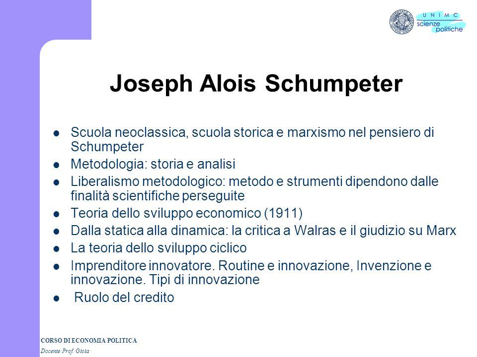CORSO DI ECONOMIA POLITICA Docente Prof. Gioia Gustav Schmoller Concorrenza e laissez faire in Schmoller Lo sviluppo economico Giudizio su Marx Andame