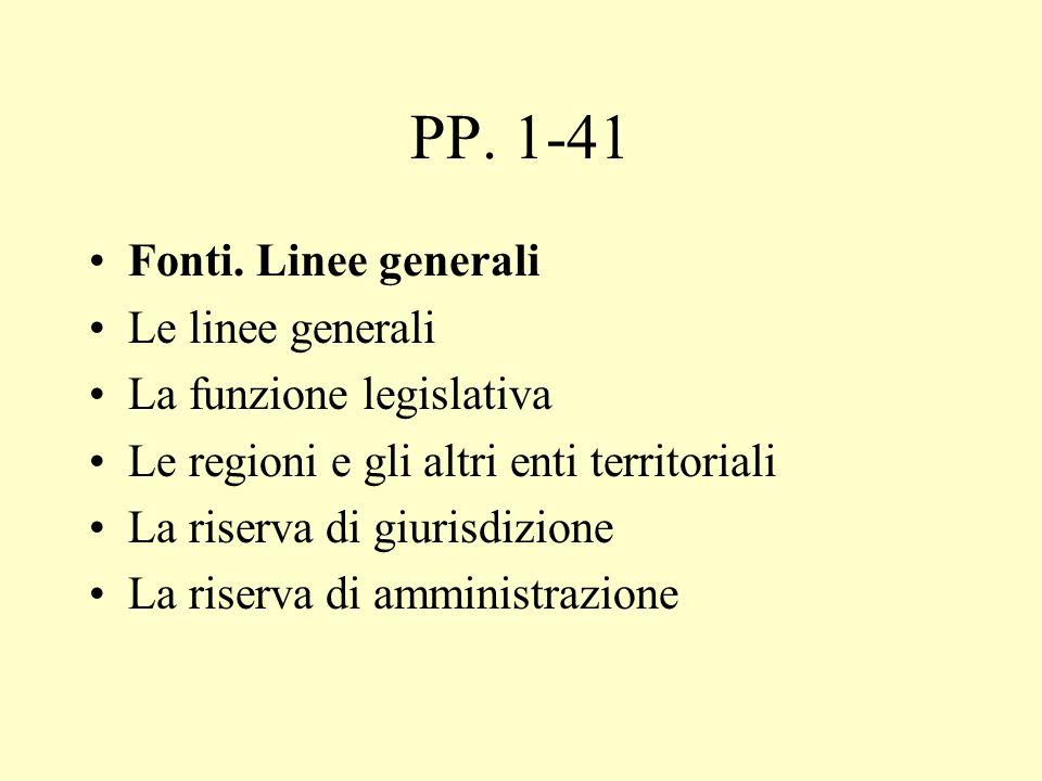 PP.74-111 I regolamenti I regolamenti governativi (storia; l.