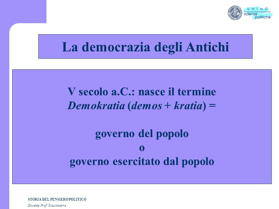 i STORIA DEL PENSIERO POLITICO Docente Prof. Scuccimarra Lezione n. 7 I SEMESTRE A.A. 2005-2006